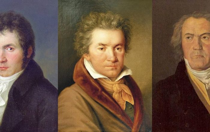 Portraits of Beethoven at different ages