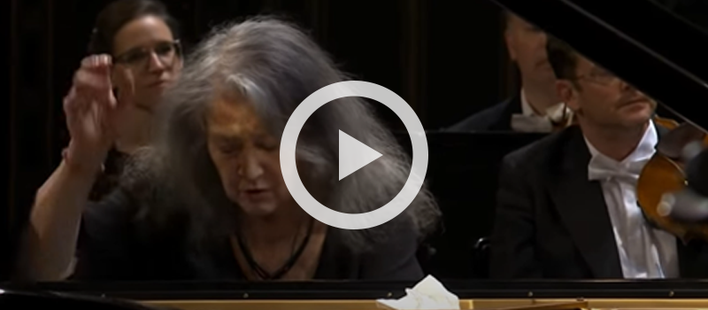 Martha Argerich performing Beethoven's Piano Concerto No. 1 in C major, Op. 15