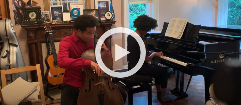 "Sheku & Isata Kanneh-Mason performing ""The Swan"" from Le carnaval des animaux"