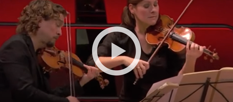 Tetzlaff Quartet performs Mozart's Mozart's Allegro vivace from String Quartet No. 16 in E-flat major, K. 428/421b